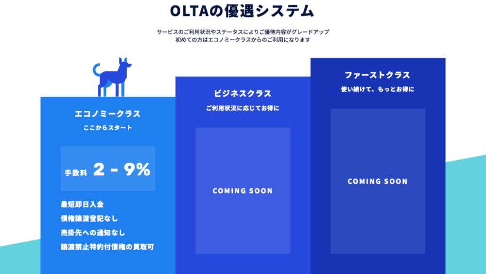 OLTAの優遇システム